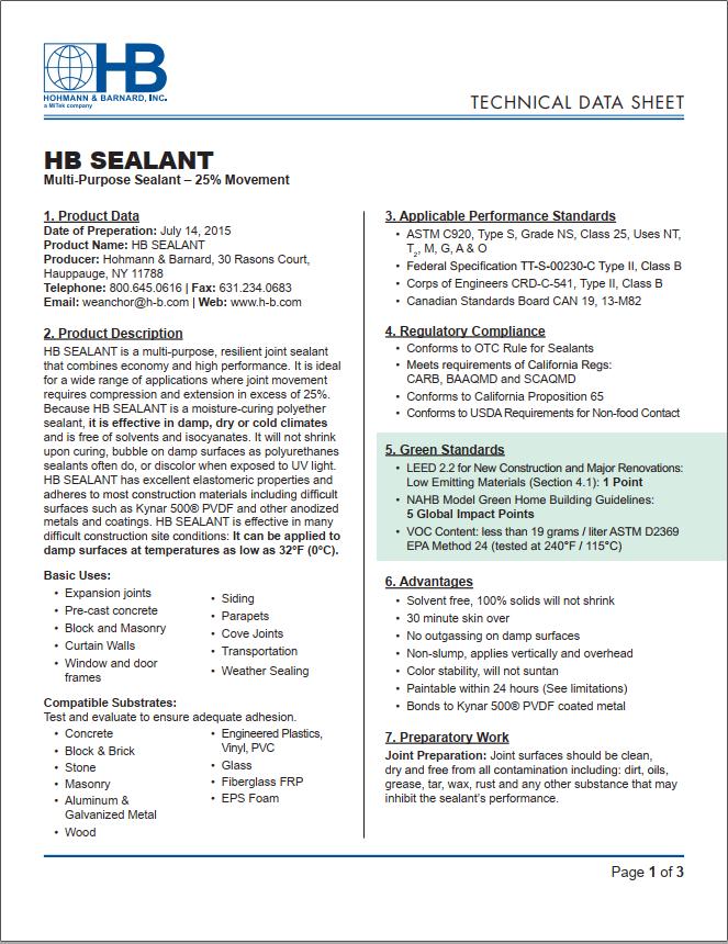 HB Sealant - Triumph Construction Supply
